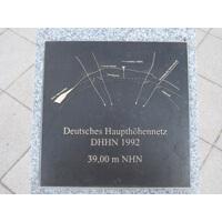 Datheplatz 350x350x15 mm patiniert, geschliffen