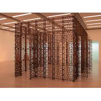 Museum für Moderne Kunst Wien Objekt aus 145 Bronzerosten Entwurf: Dejanoff