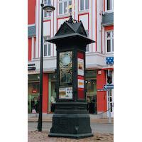 Annoncenuhr, Stadt Werdau In Zusammenarbeit mit Fa. Aust & Köckritz
